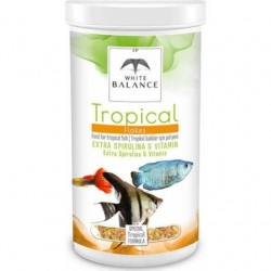 White Balance Tropical Flakes Tropikal Balık Yemi Pul 100ml